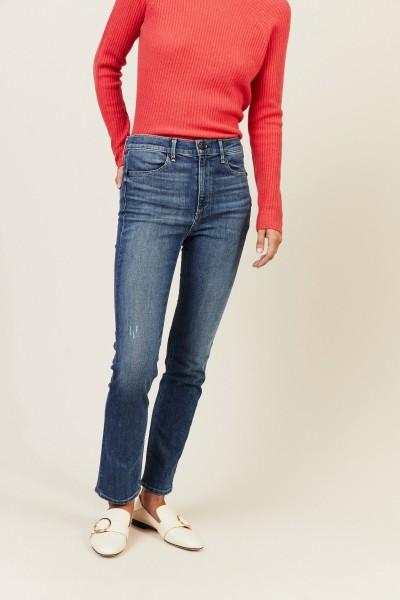 High-Rise Jeans 'Cigarette Leg' Blau