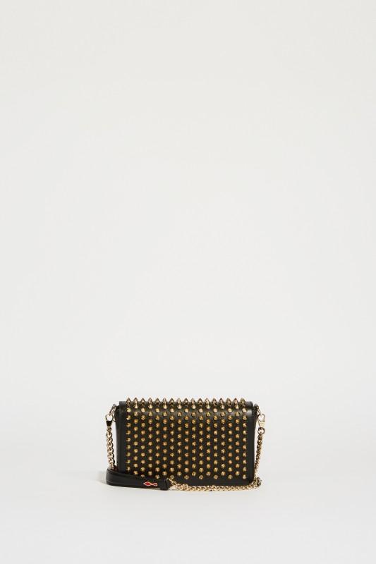 Mini-Umhängetasche 'Zoompouch' mit Nieten Schwarz