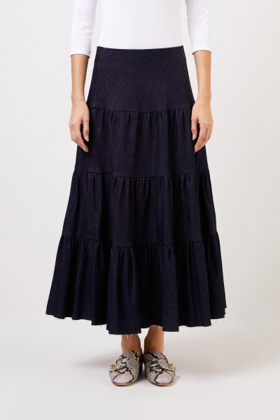 Chloé A-line jeans skirt Blue