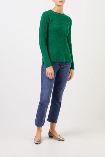 Uzwei Cashmere-Pullover mit Strickdetail Grün