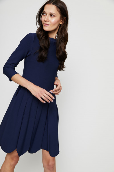 Kurzes Kleid 'Mermaid' Cobalt