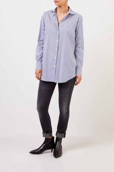Artigiano Striped cotton blouse Blue/White