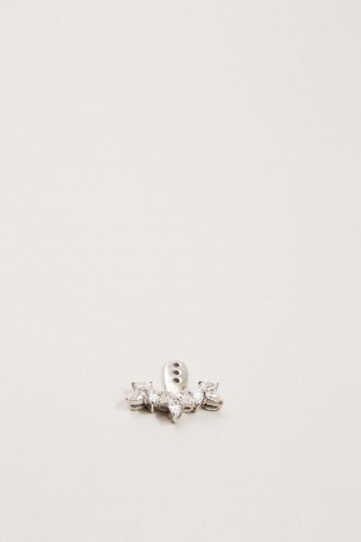 Ohranhänger mit Diamanten in Tropfenform 18K Weißgold