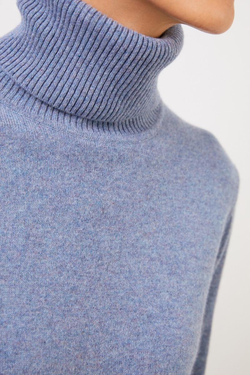 Uzwei Cashmere-Rollkragenpullover Blau