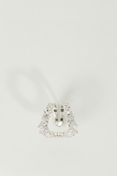 Geschwungener Ring 'Mirian' mit Diamanten 18K Weißgold