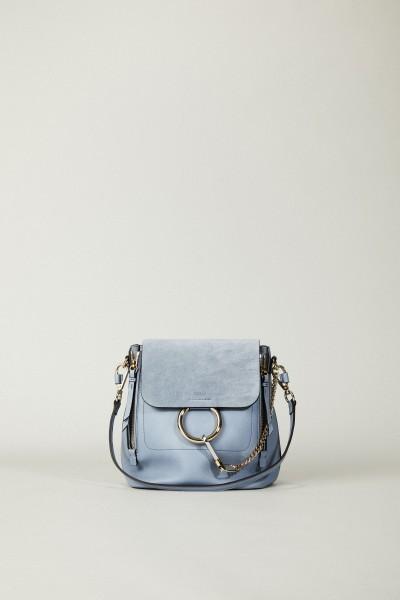 Rucksack 'Faye Backpack' mit Veloursleder-Detail Washed Blue