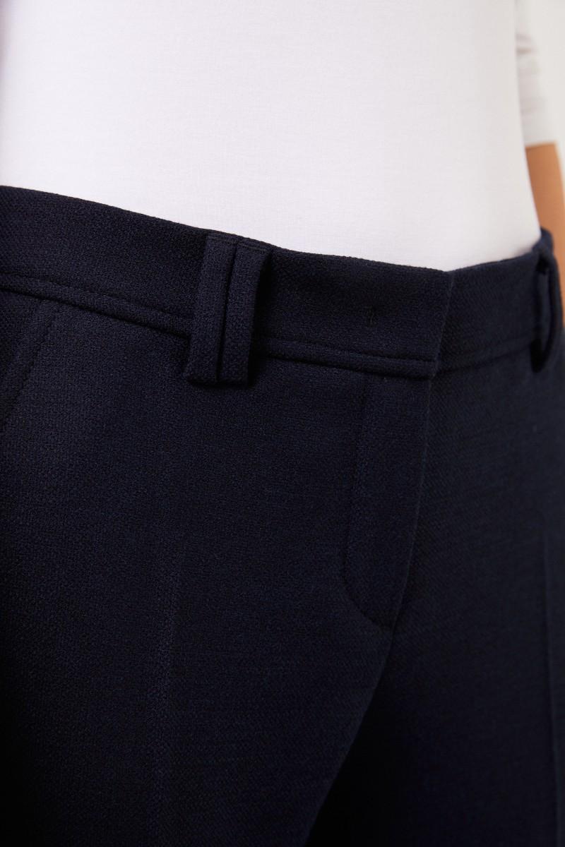 Seductive Bügelfaltenhose 'Allison' Marineblau