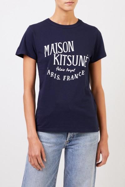 Maison Kitsuné T-Shirt 'Palais Royal' Marineblau