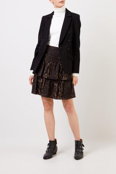 Mini skirt with print Green/Multi