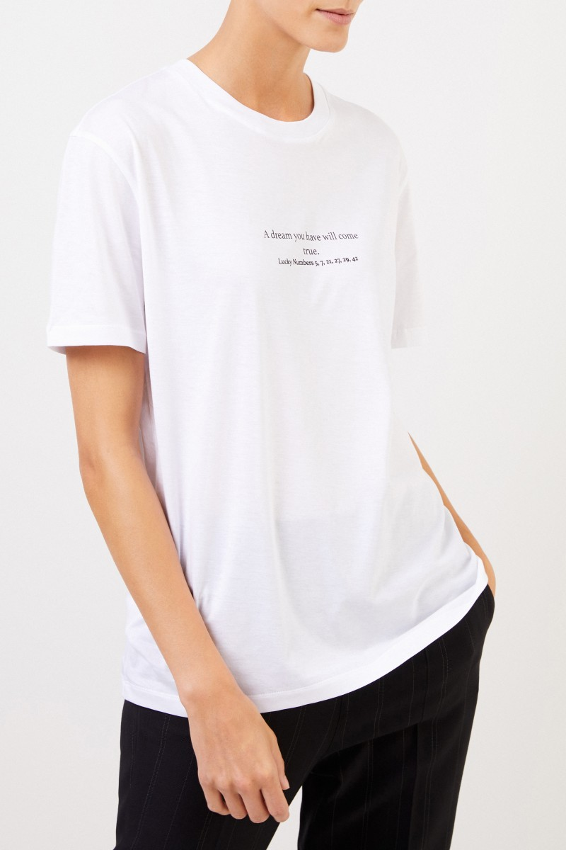 Stella McCartney T-Shirt mit Aufdruck Weiß