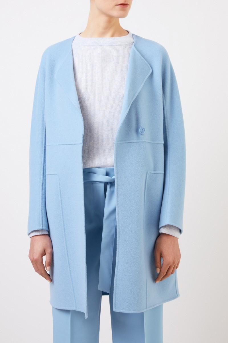 Iris von Arnim Cashmere Mantel 'Eartha' Blau