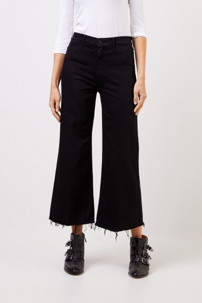 Mother Denim HIghwaist-Jeans 'Looker' Schwarz