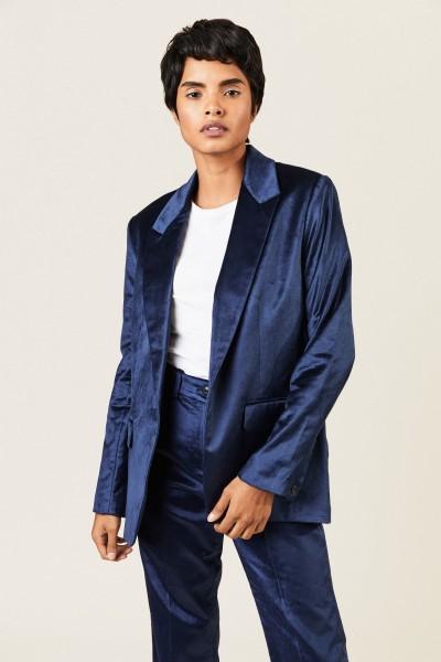 Samt-Blazer 'Monty Velvet' Blau