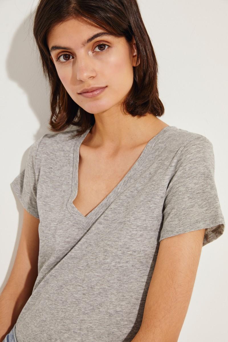 Schlichtes T-Shirt Grau