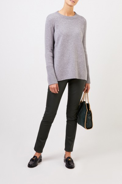 Cashmere doubleface pullover 'Posy' Grey