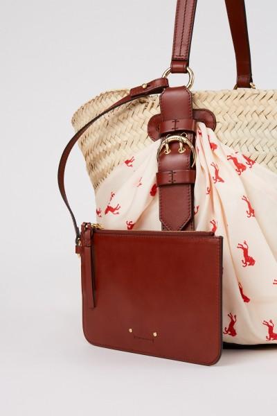 Chloé Basket bag with cloth detail Multi