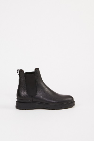 Woolrich Leather chelsea boots Black