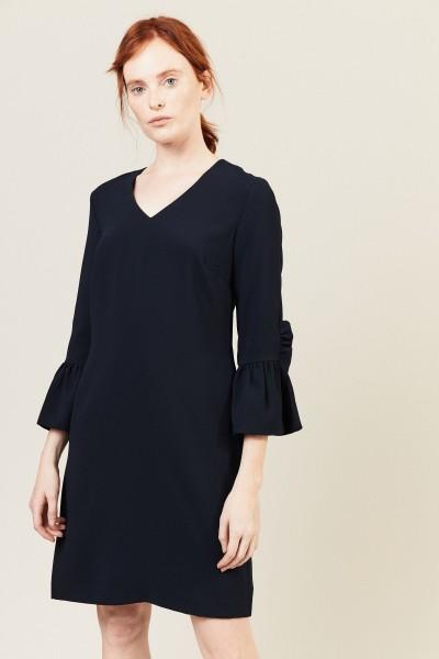 Kleid mit Glockenärmel Marineblau