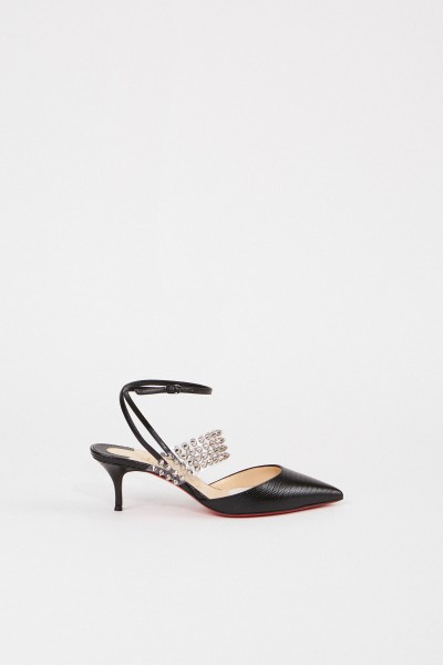 Christian Louboutin Pumps with reptile pattern 'Levita 55' Black