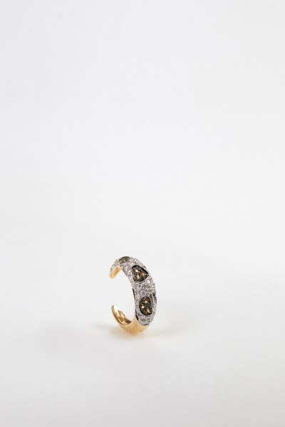 Yvonne Leon Earcuff 'Clip Leopard Dia' with diamonds Gold