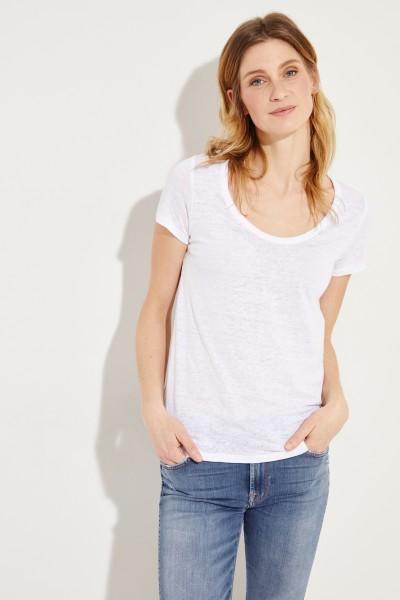 Leinen-Shirt Weiß