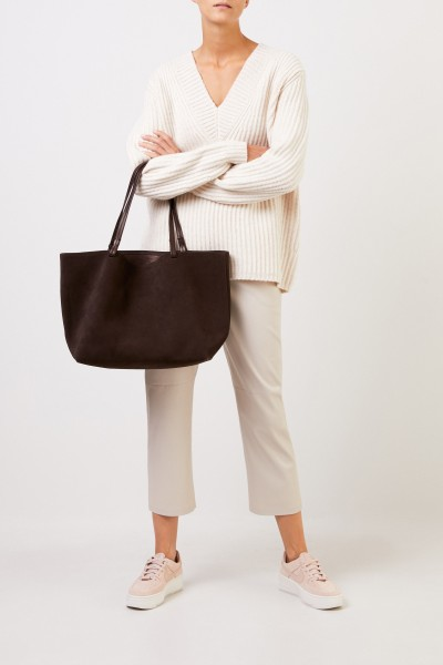 The Row Veloursleder-Shopper 'Park Tote' Braun