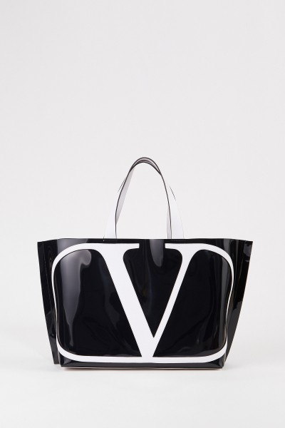 Big shopper with frontal logo Black/White
