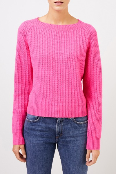 Uzwei Rib knit cashmere pullover Pink