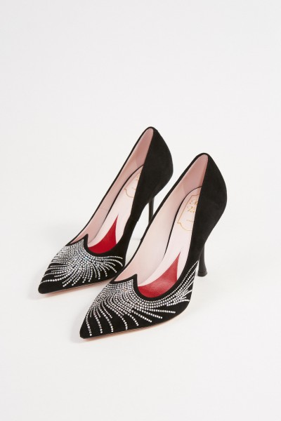 Roger Vivier Pumps 'I Love Vivier Crrystal Wave' with Crystal Decoration Black