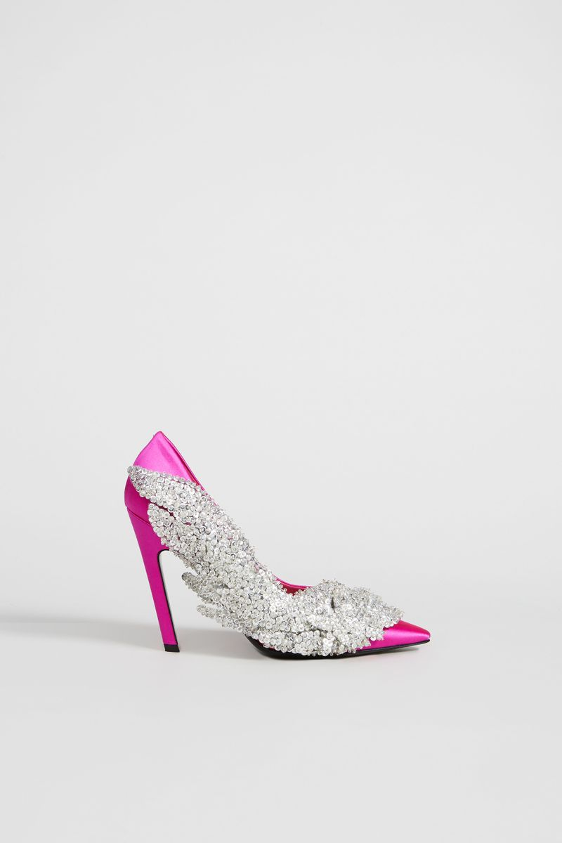 Pumps mit Pailletten 'Talon Slash' Fuchsia