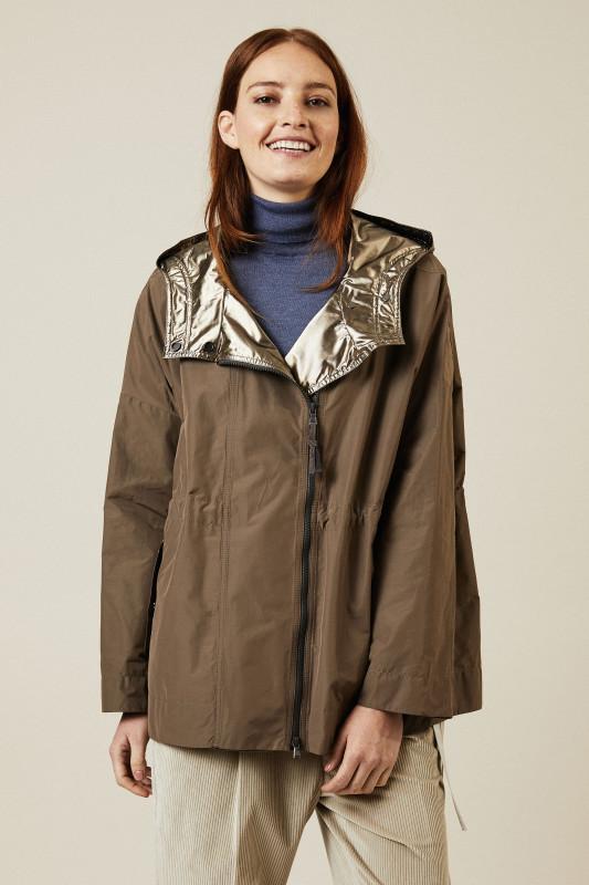 Leichte Oversize-Jacke in Oliv