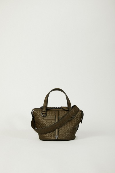 Geflochtene Handtasche 'Tambura' Khaki