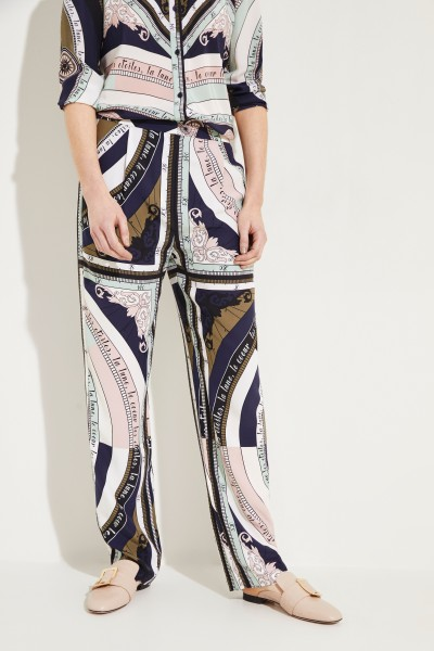 Silk trousers 'Sienna' with Print Multi