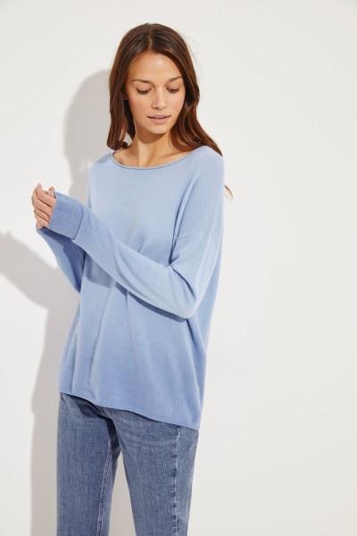 Cashmere-Pullover 'Caja' mit Farbverlauf Blau