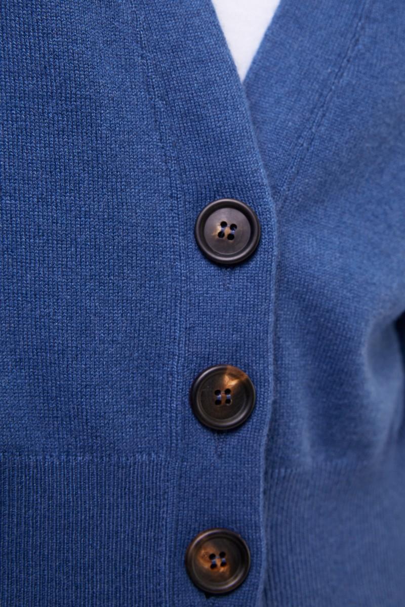 Brunello Cucinelli Cashmere-Cardigan Blau