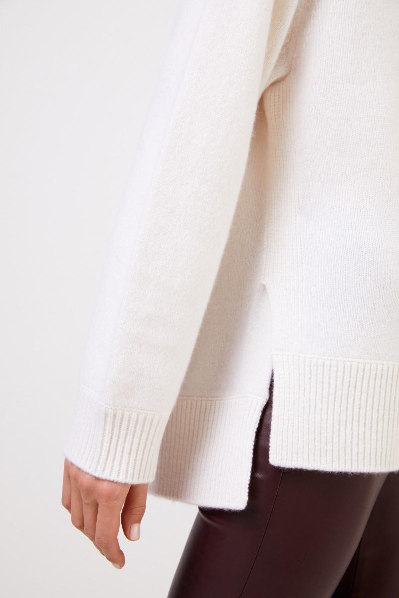 Vince Cashmere-Pullover mit V-Neck Weiß