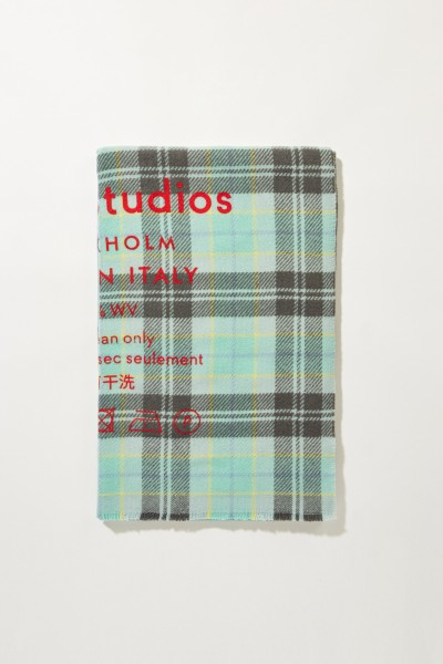 Classic wool scarf 'Cassiar Check' Multi