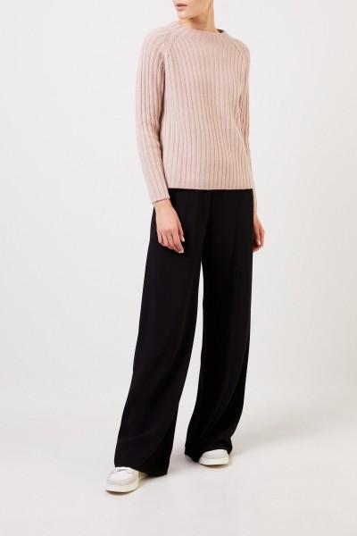 Allude Woll-Cashmere-Pullover Nude