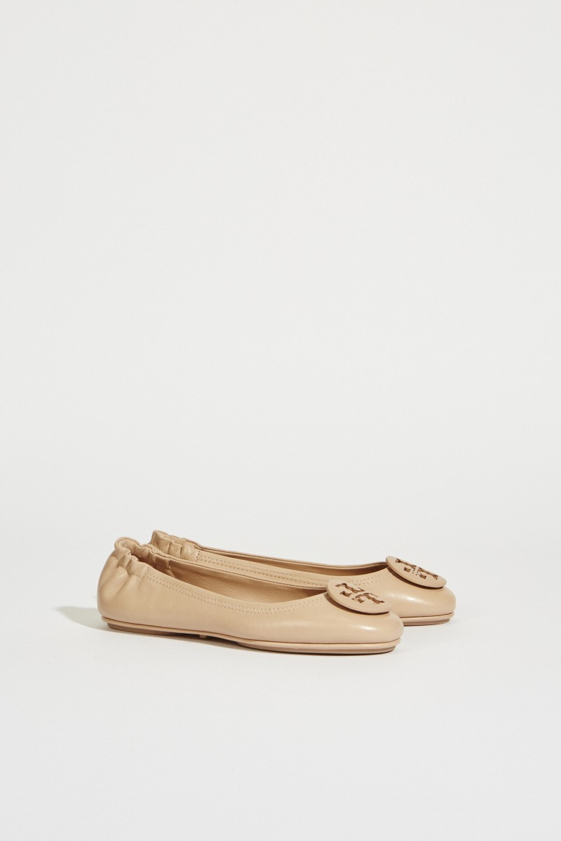 905872def Leather Ballerina 'Minnie Travel Ballet' Nude | Flats and Sandals ...