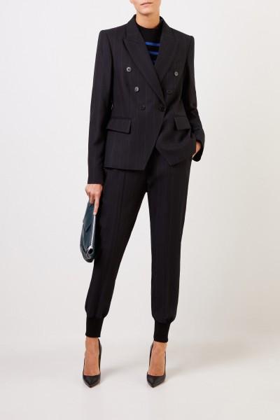Stella McCartney Woll-Blazer mit Streifendetail Schwarz