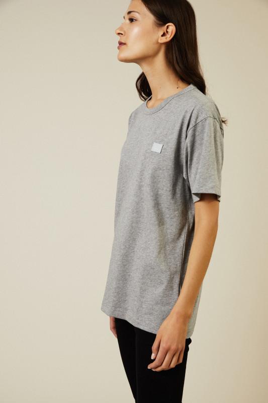 T-Shirt 'Nash Face' Light Grey Melange