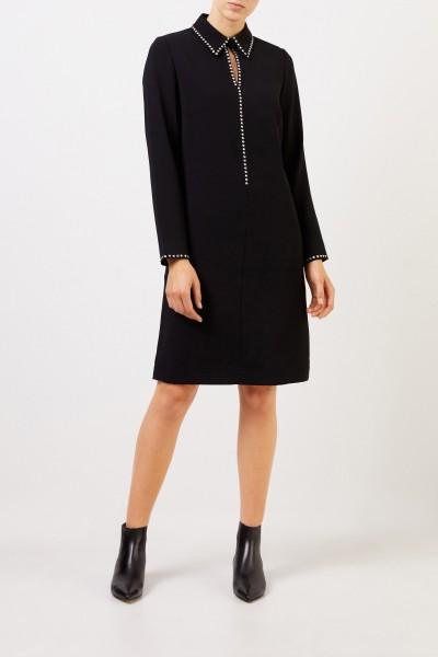 Classic dress with rhinestones Black
