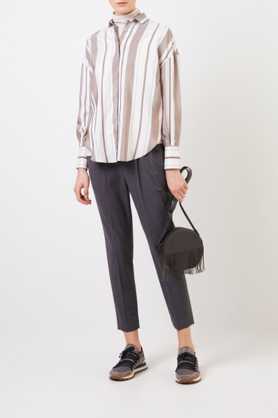 Striped silk blouse Multi