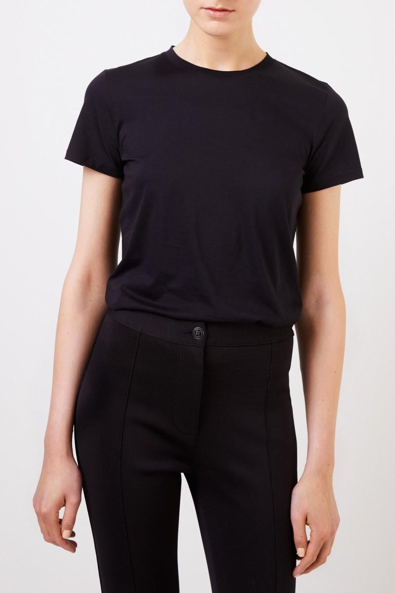 Vince Klassisches T-Shirt Schwarz