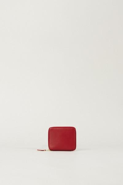 Leder-Portemonnaie Rot