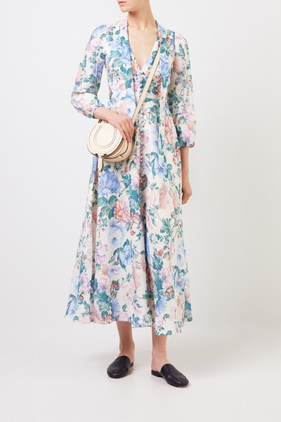 Zimmermann Maxi Dress Linen Multi