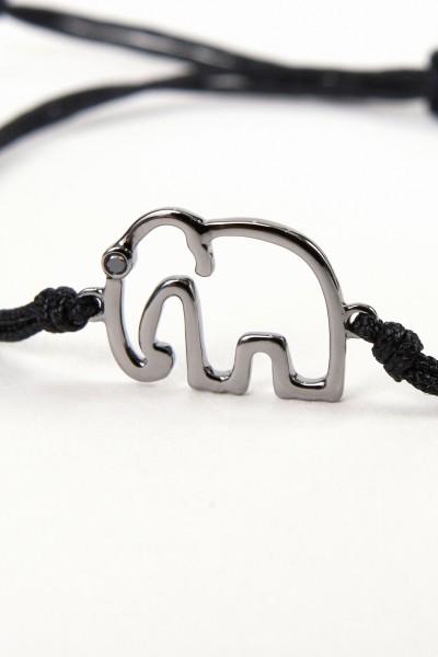 Yvonne Leon Bracelet with elephant Black/ Black-Gold