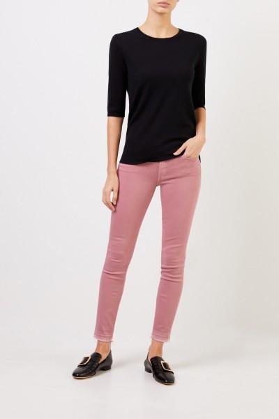 Short sleeve cashmere pullover 'Lyv' Black