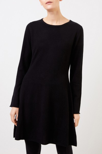 Allude Woll-Cashmere Knitted Dress Black