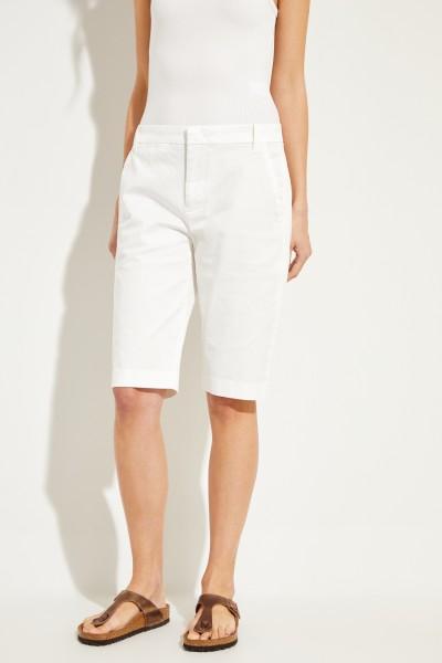 Baumwoll-Bermuda Weiß